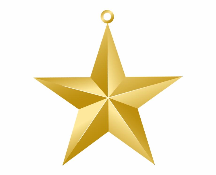 Download Clipart Pics Christmas Gold Star Ornament