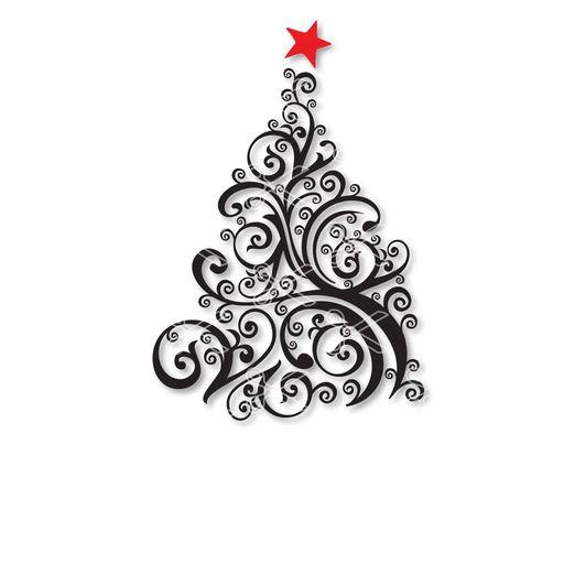Christmas tree svg.