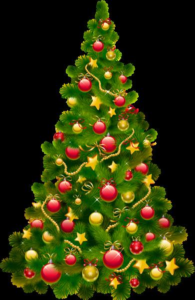Large transparent christmas.