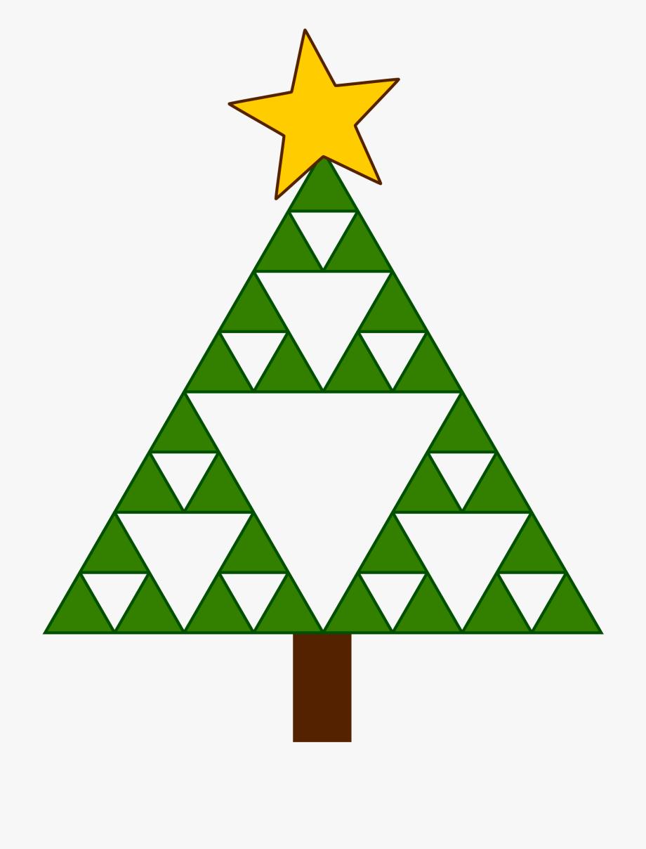 Triangle Clip Christmas Tree Clipart