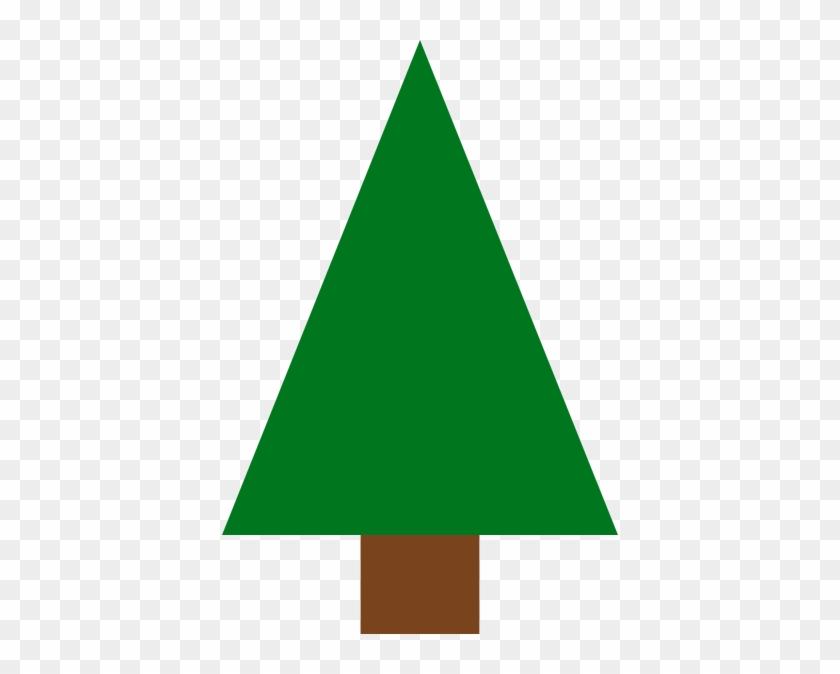 Triangle Christmas Tree Clipart