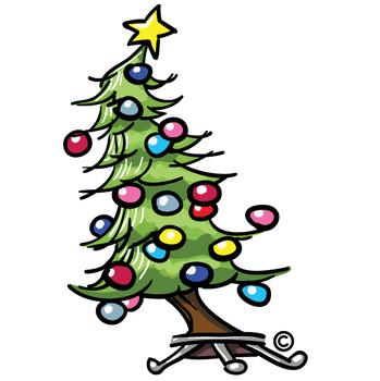 Free Whimsical Christmas Tree Clip Art