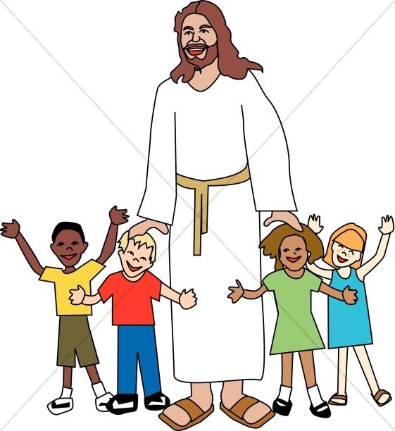 Jesus and kids.
