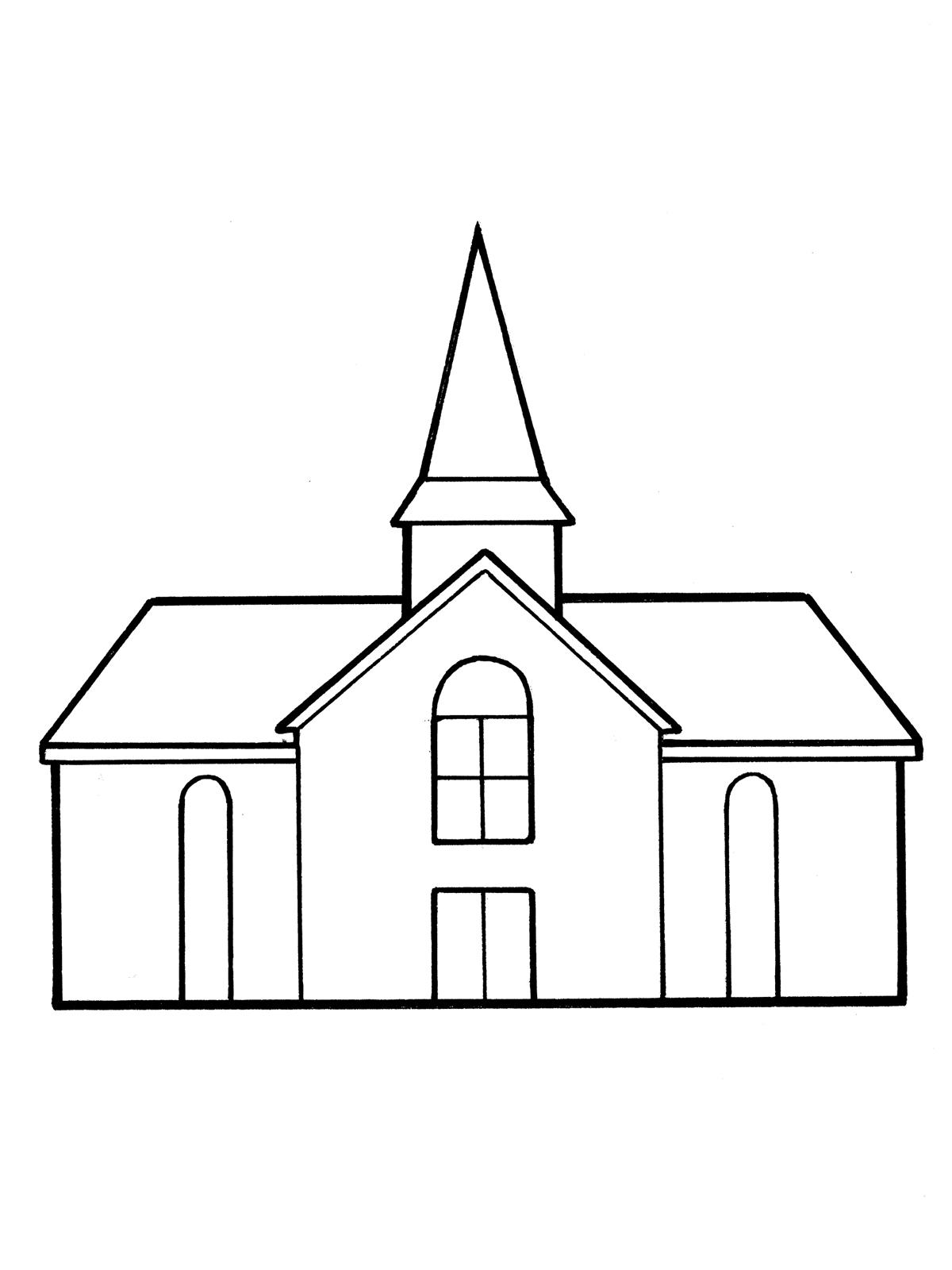 Simple church sketch.