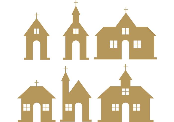 Country church vectors.