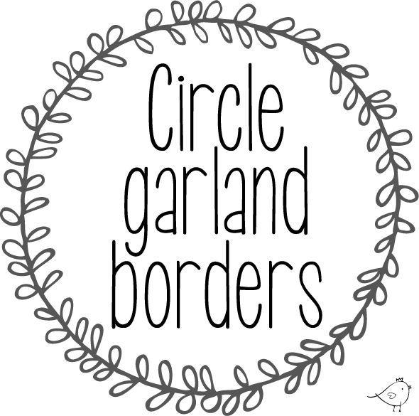 Circle garland borders.