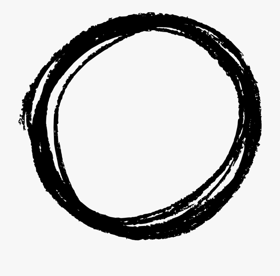 Drawn Circle Crayon