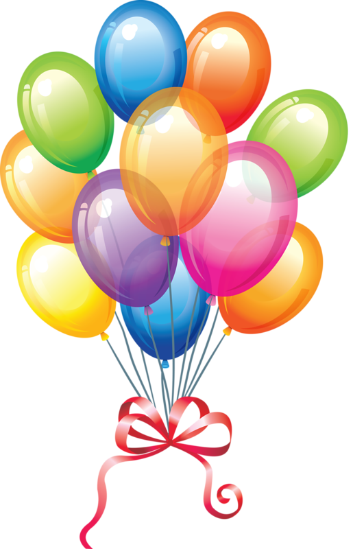 Single modern blue balloon clipart image birthday clip