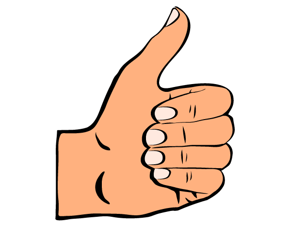 Clipart arm thumbs up. Vector art free