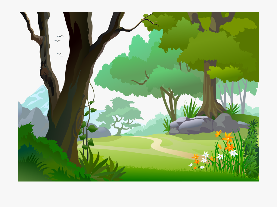 forest background clipart illustration