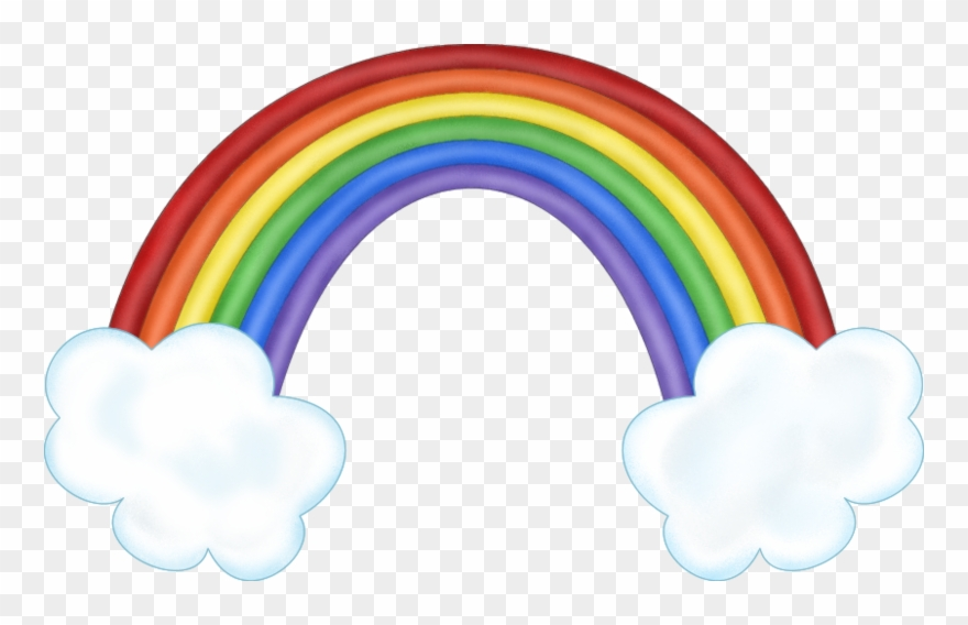 Rainbow With Clouds Clipart K