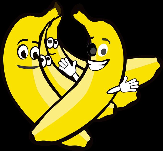 Banana cartoon clipart.