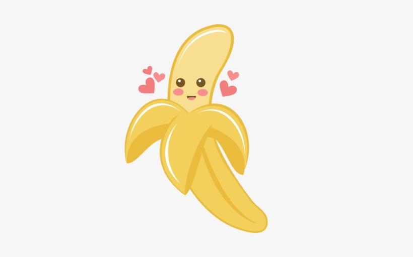 Valentine banana scrapbook.
