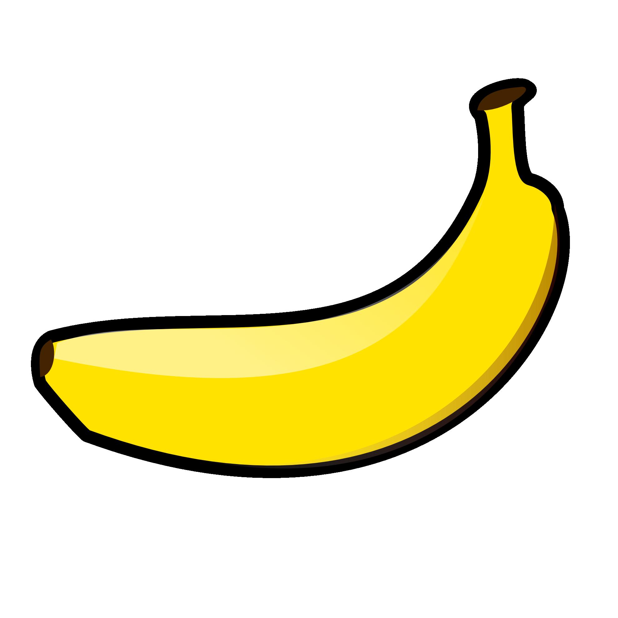 Banana clipart black.