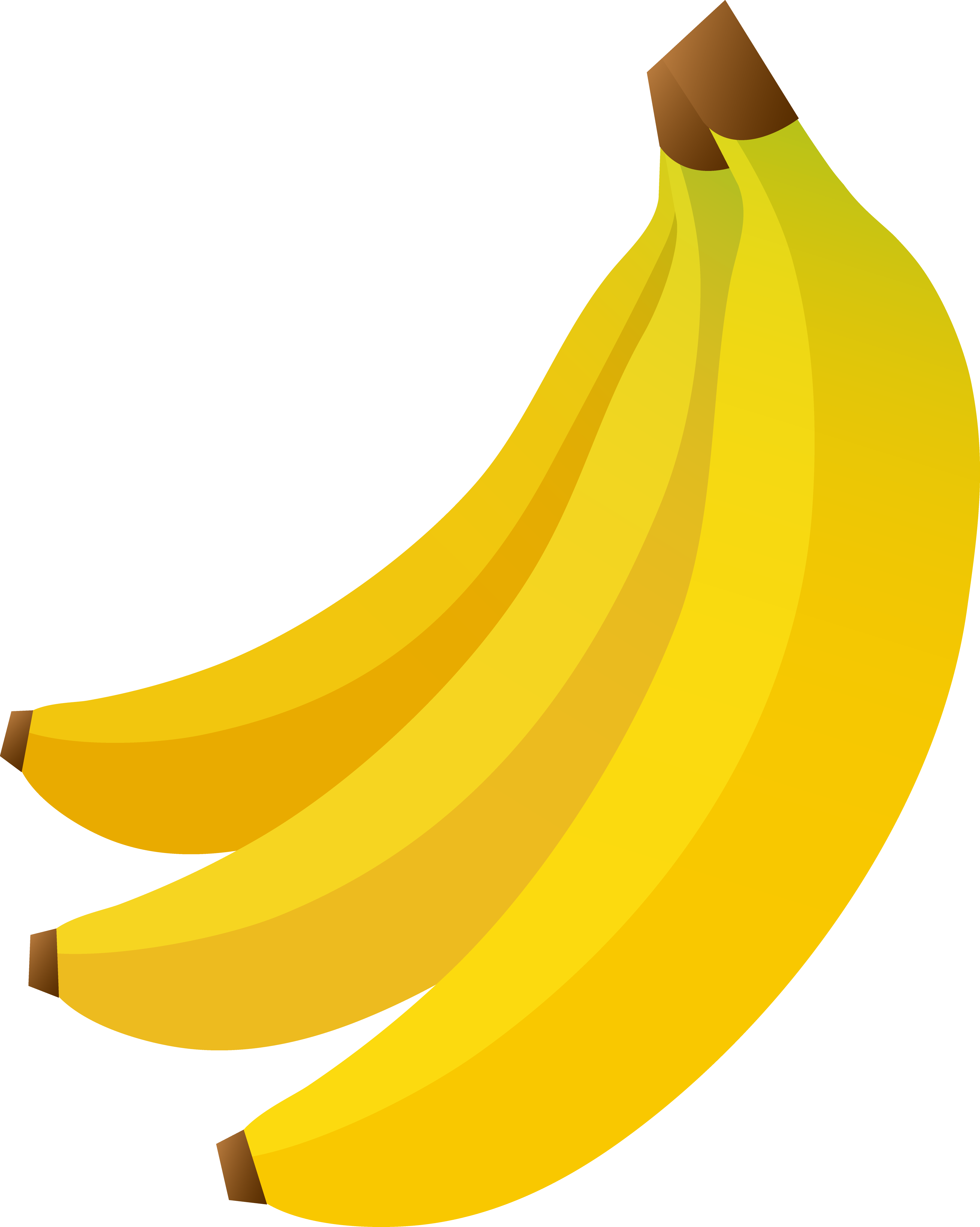 Bunch three bananas.