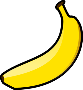 Banana clipart vector.