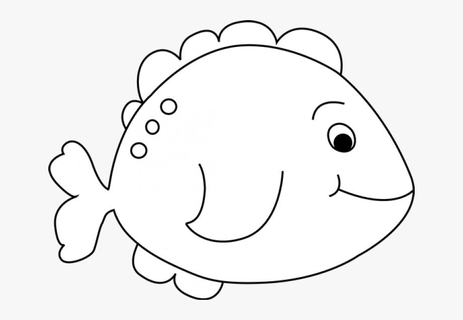 Fish clipart black.