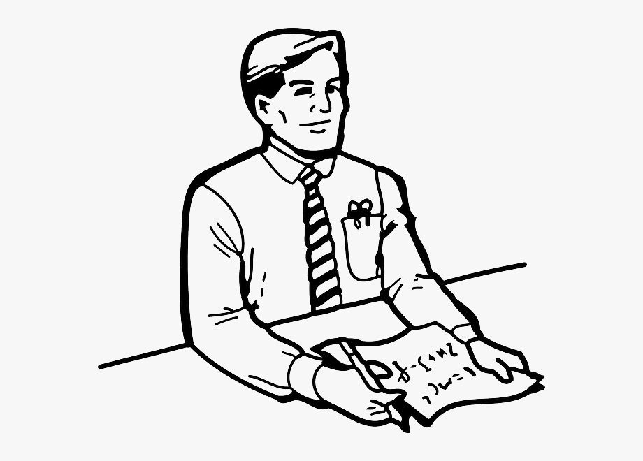 Clipart outline person.