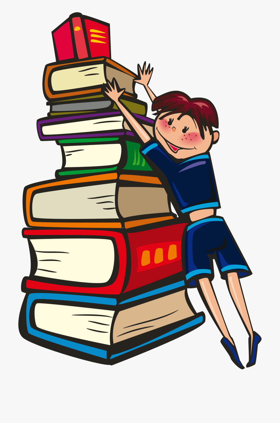 Animated book clipart.