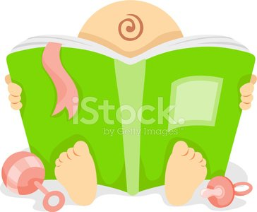 Baby book clipart.