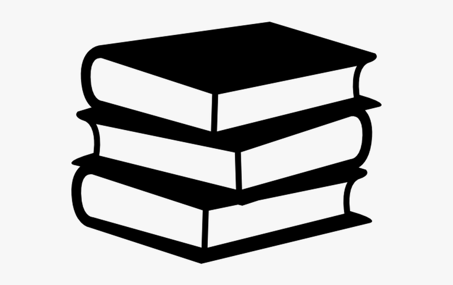 Book Stack Clipart Black And White