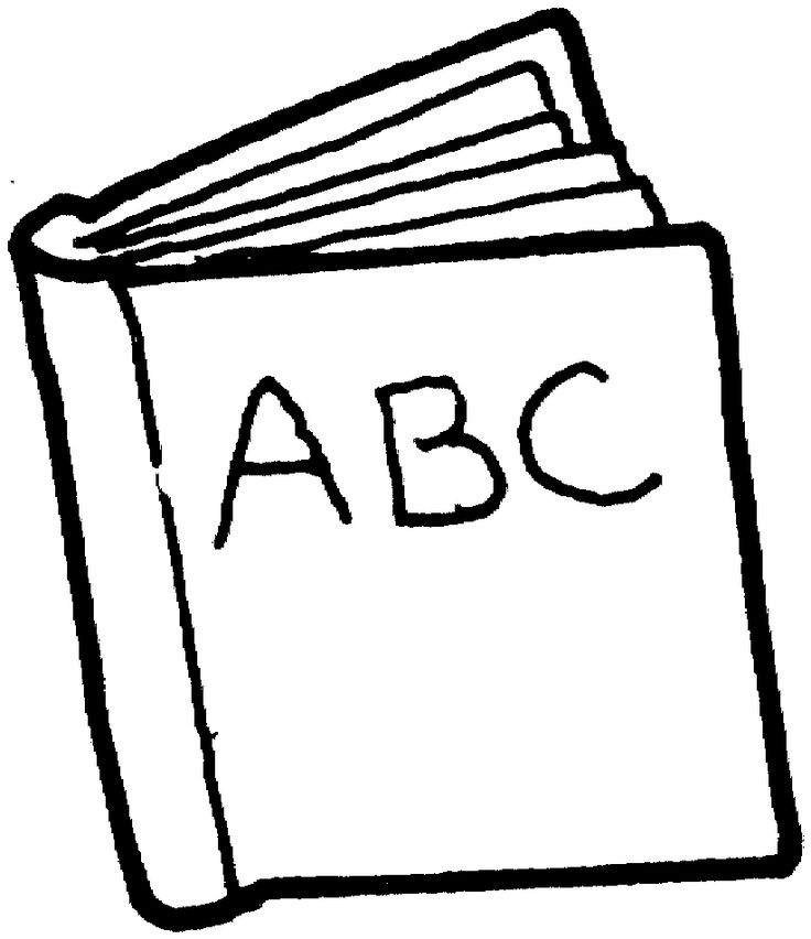 Book black and white else page clipart free download