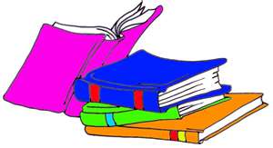 Colorful books clipart