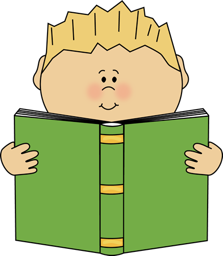 Boy reading a book from MyCuteGraphics