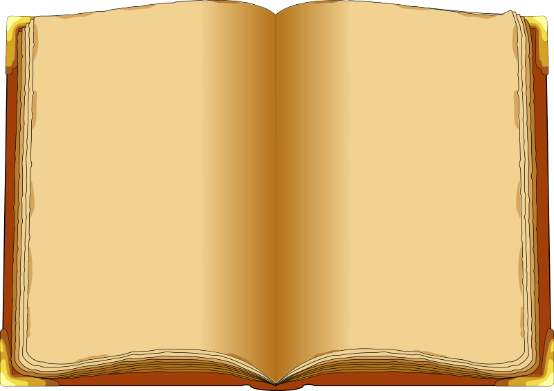 Old open book clipart