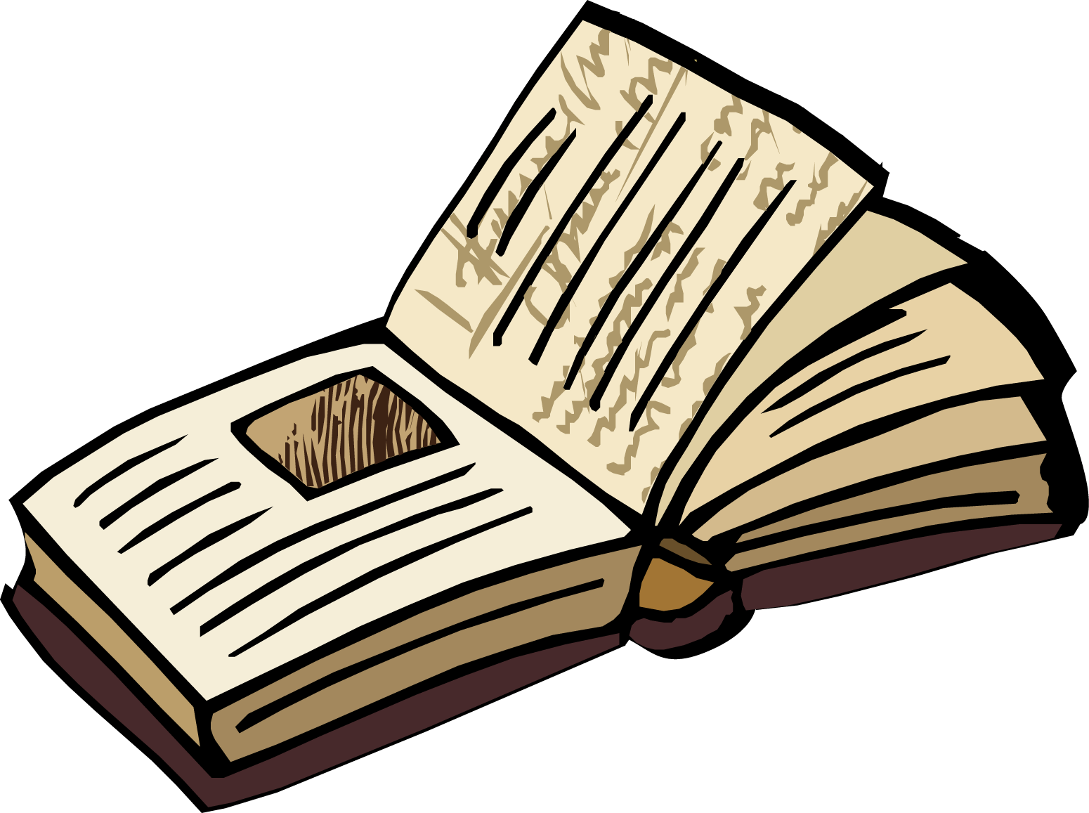 Open book old book open clipart kid