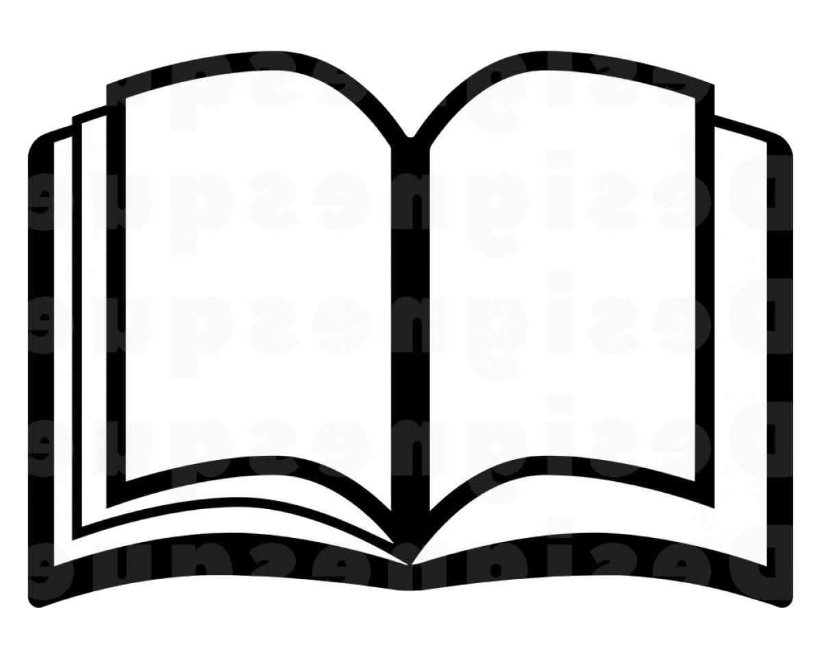 Book Vector Black And White Outline Clipart Transparent Png