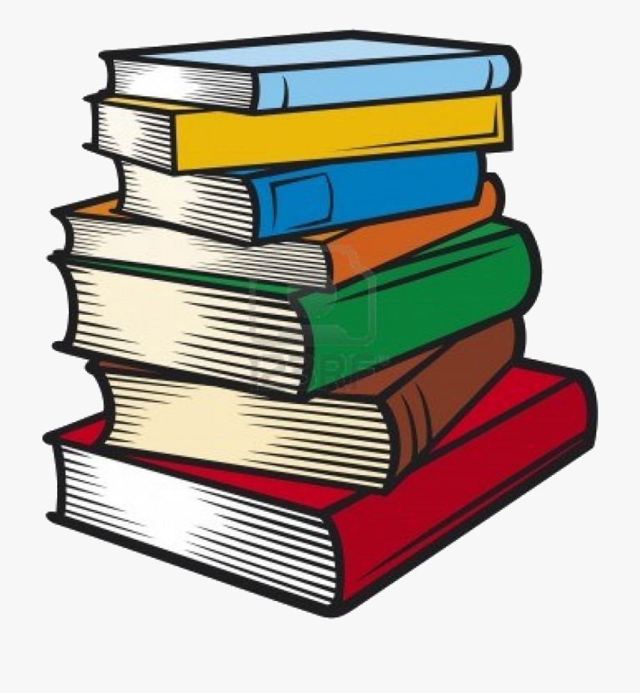Book Stack Of Books Clip Art Transparent Png
