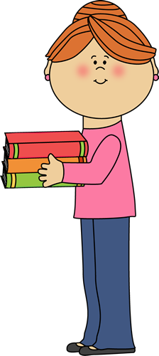 Books clipart teacher.