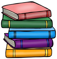 Stack of books clipart we heart it teacher clip art library