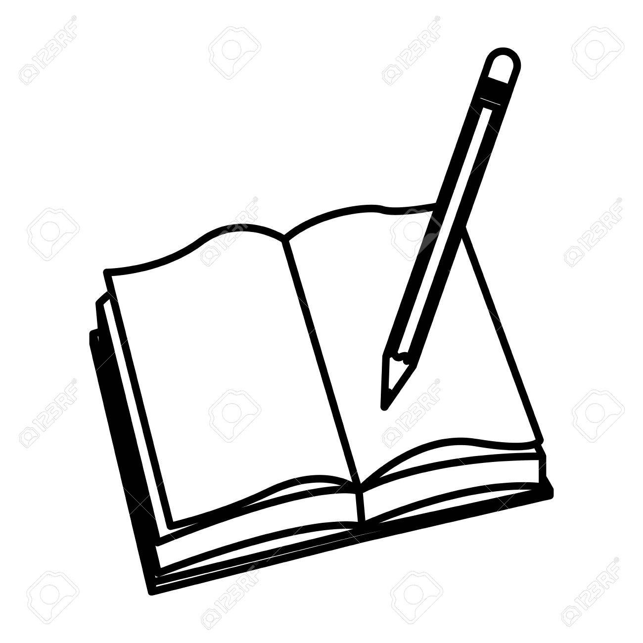Open book pencil.