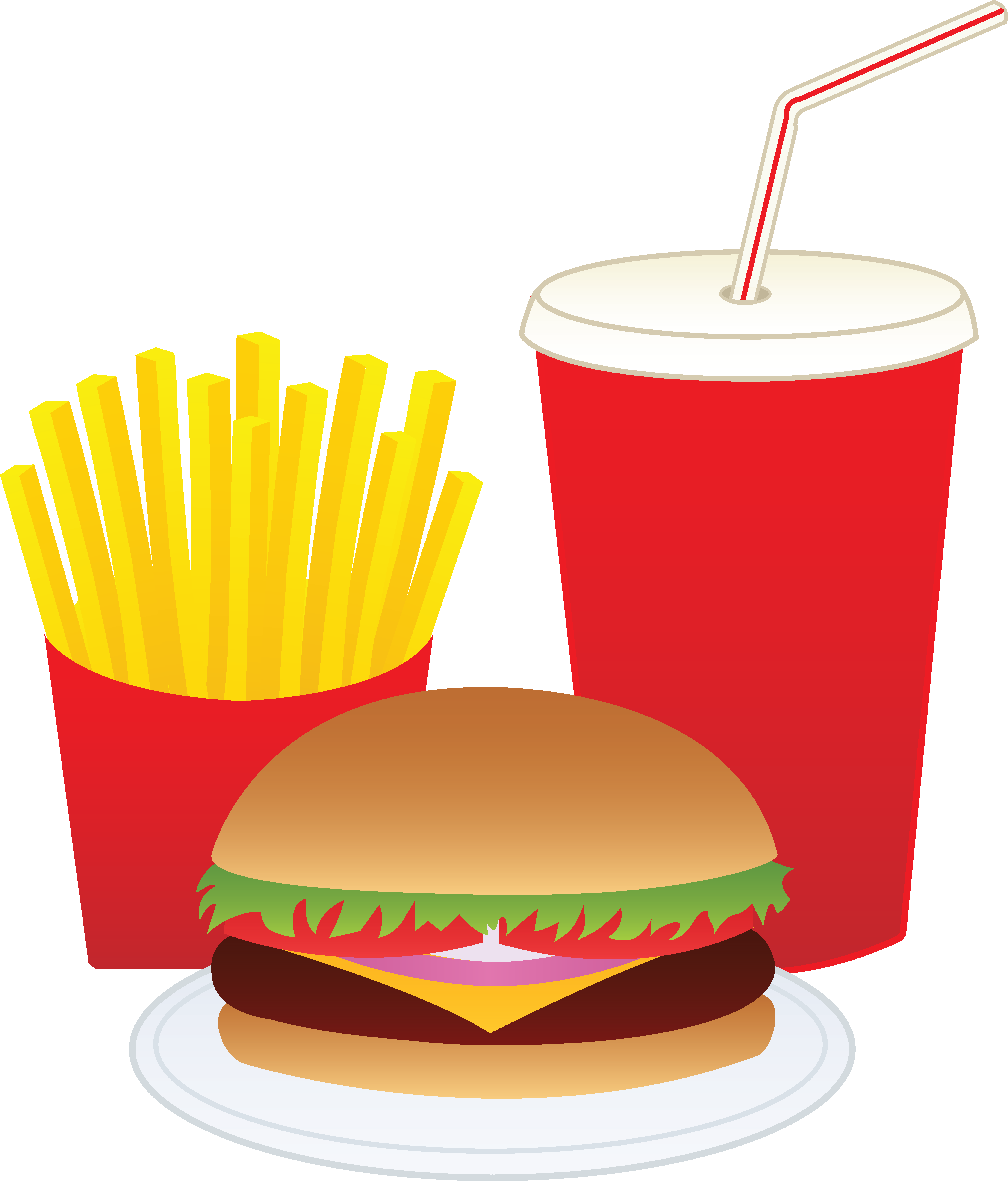 Fast food clipart drink. Free burger meal cliparts