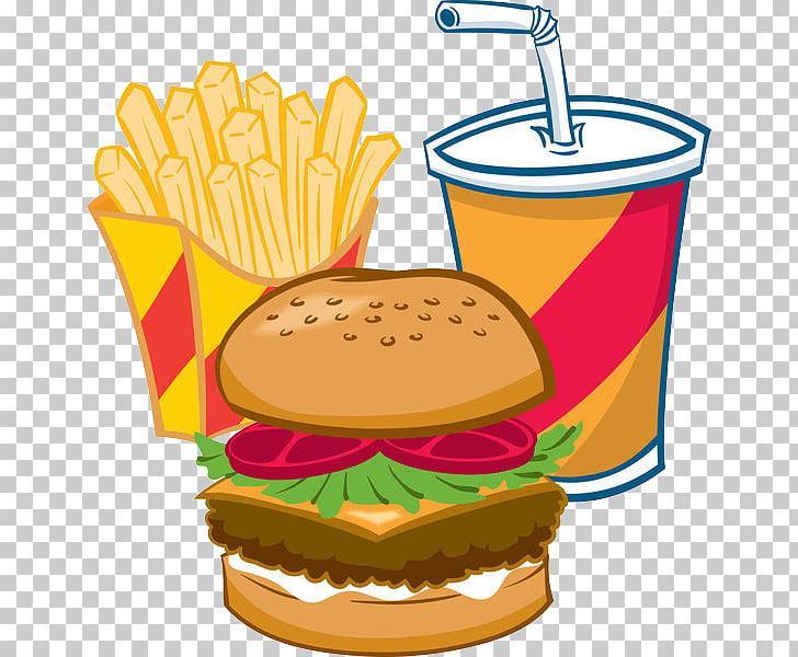 Hamburger soft drink.