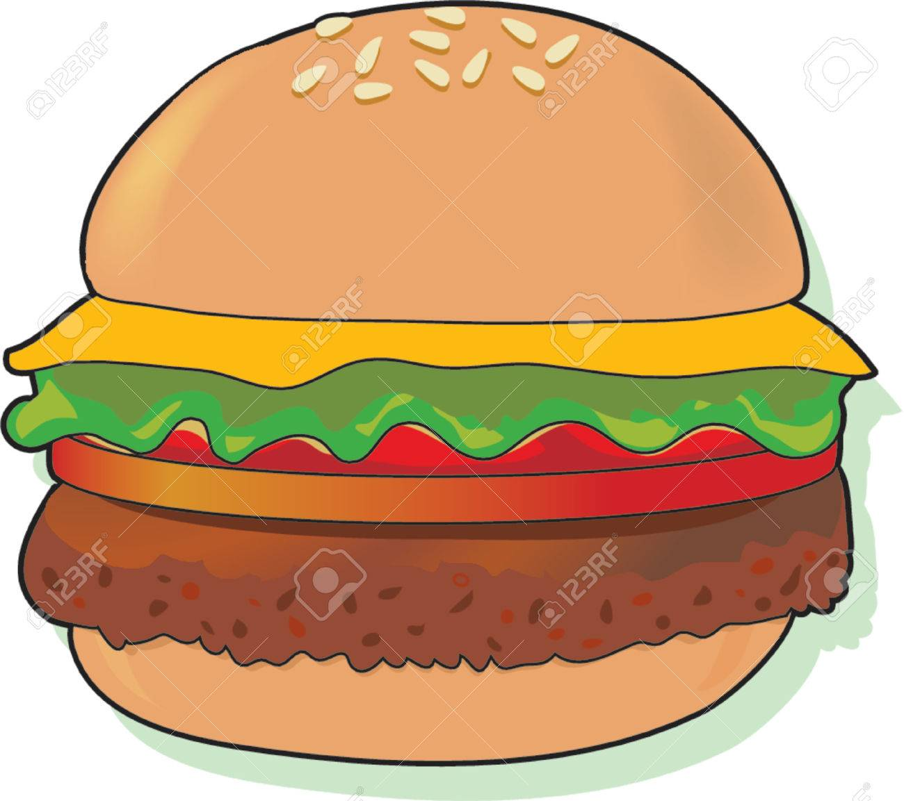 Free hamburgers clipart.