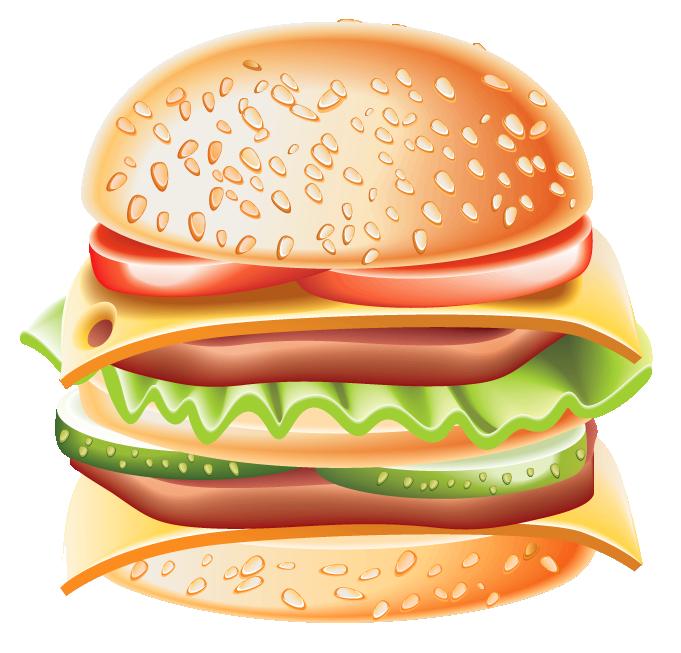 Free hamburger cliparts.