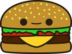 Cheeseburger clipart kawaii, Cheeseburger kawaii Transparent