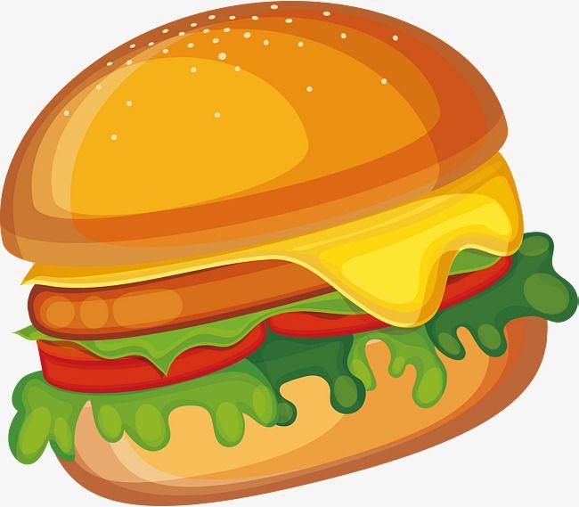 Creative cartoon burger.