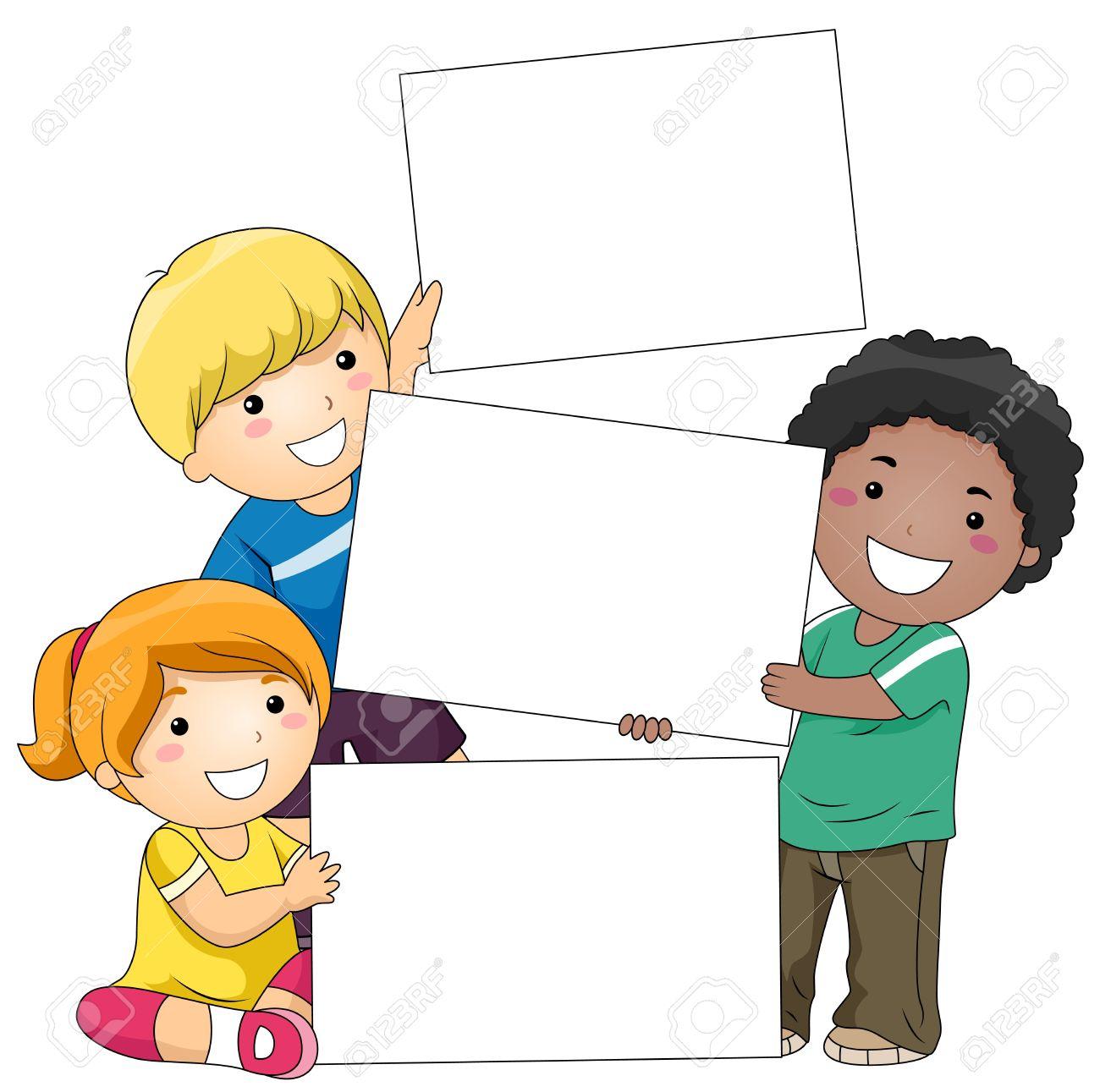 Children clipart background.