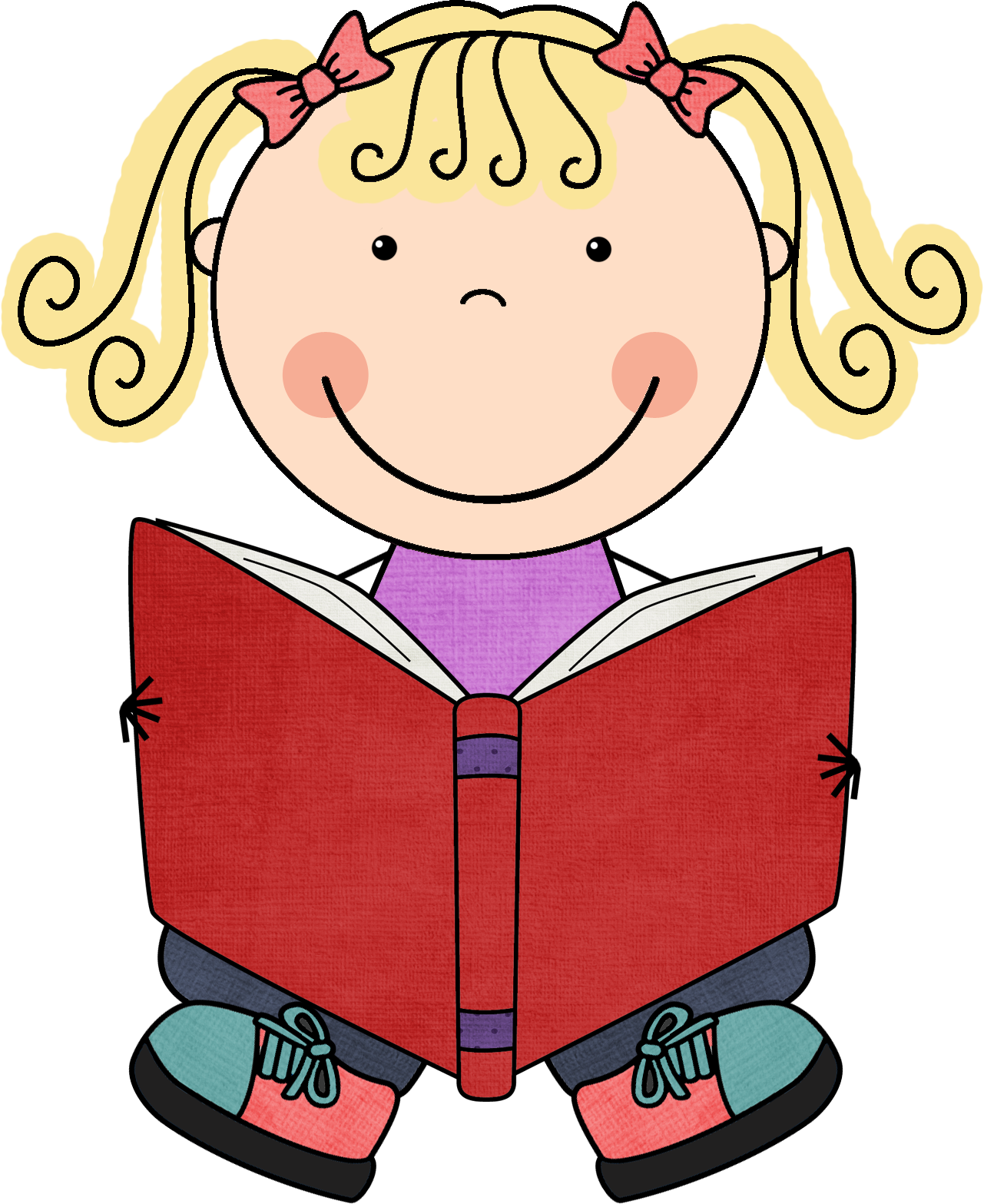 Clipart child book.