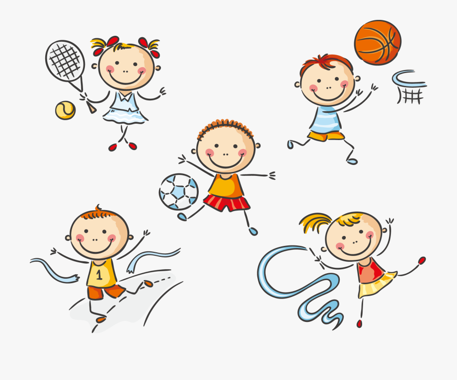 exercise clipart kid