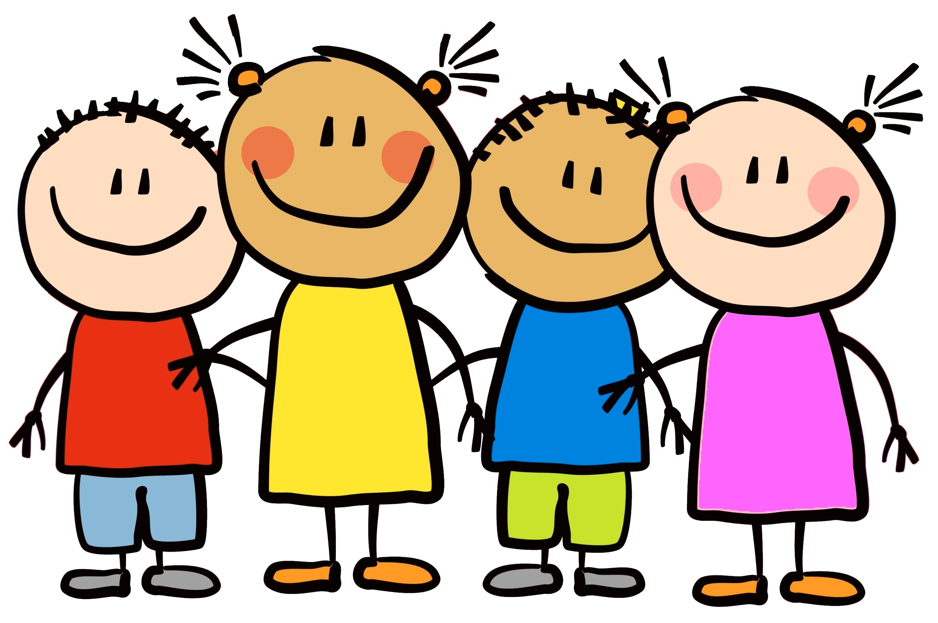 Children happy clipart.
