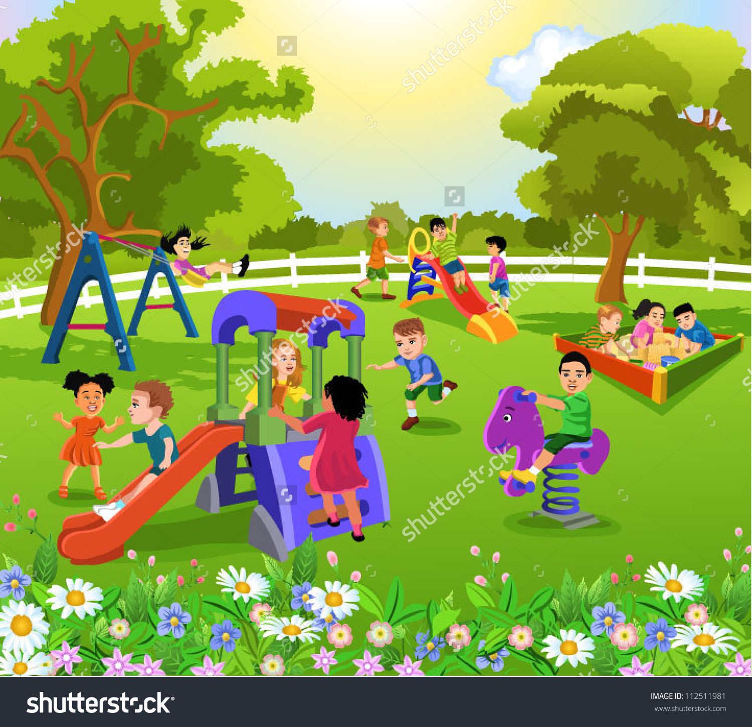 Children park clipart.