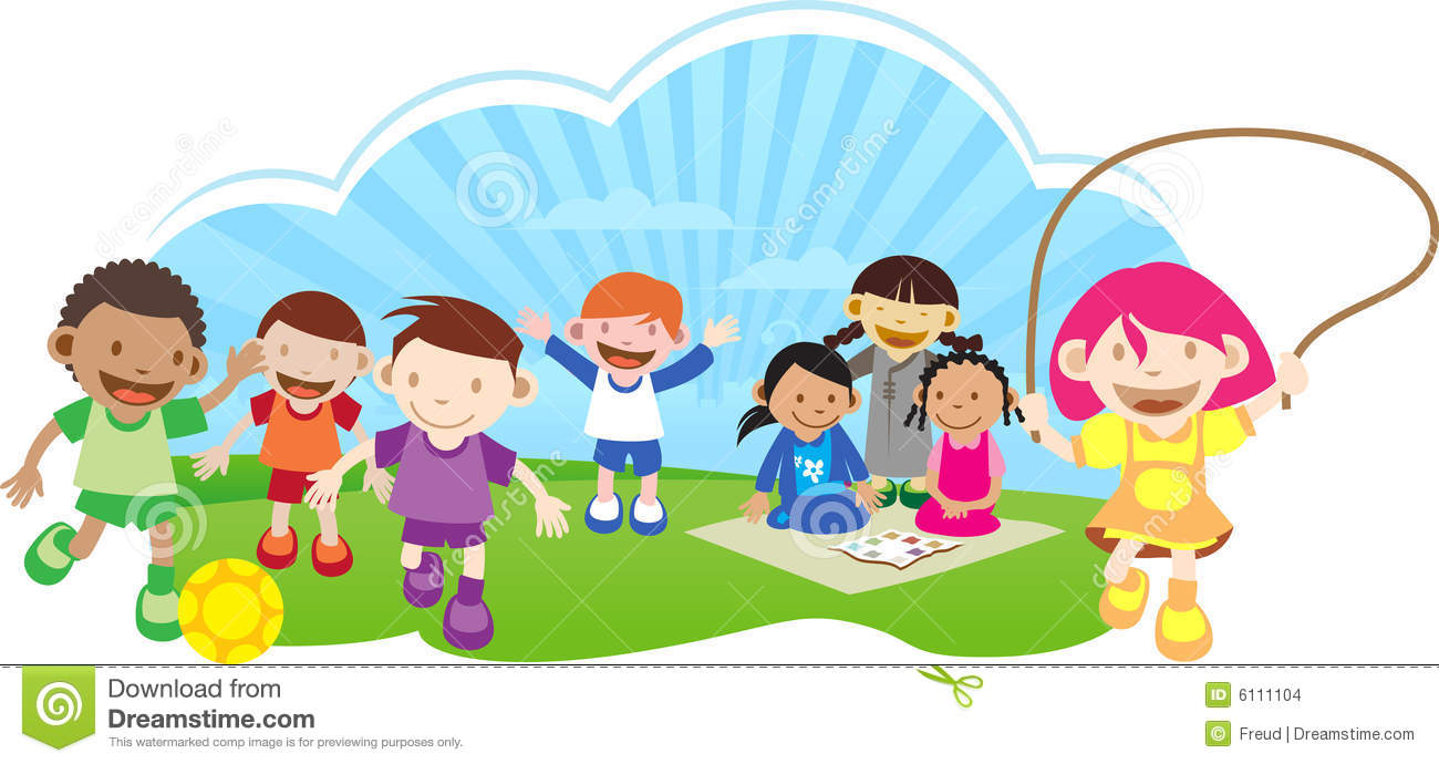 Kids play clipart.