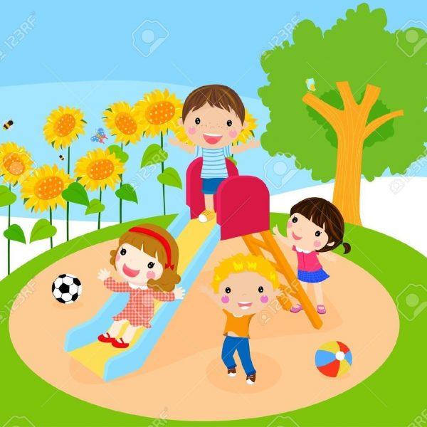 Cute children playing.