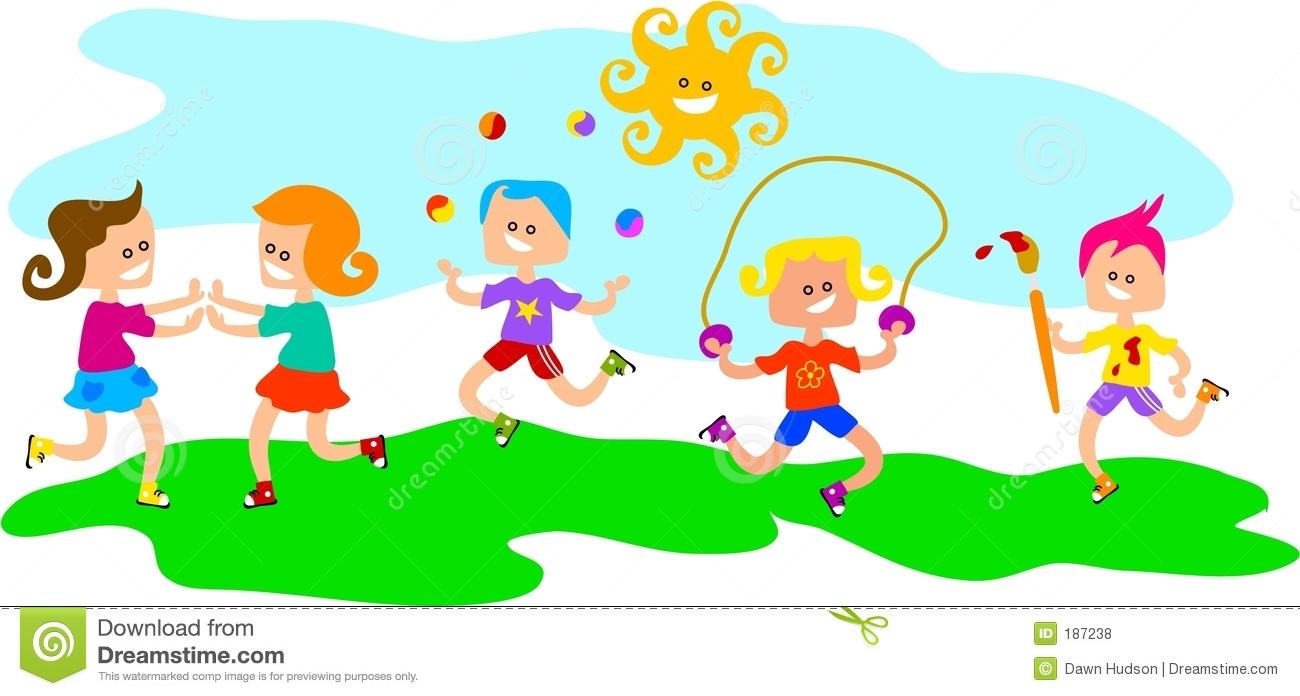 Children play clipart.