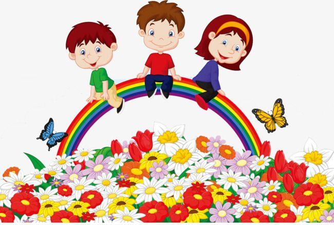 Rainbow the kids.